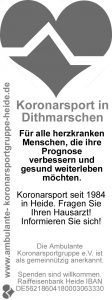 ambulante Koronarsportgruppe Heide Füllanzeige s/w